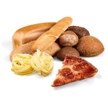 Pane, pizza e pasta Communi