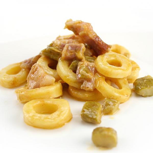 Anellini asparagi e pancetta - Mugnaia di Elice - Communi